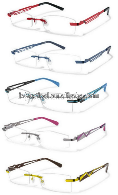 Italy design rimless glasses