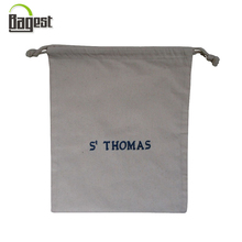 140 gsm high quality gift cotton twill drawstring bag for clothes