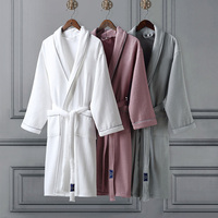 Good quality cheap price luxury bathrobe set Waffle, Terry,Mesh, Velour cloth Robe