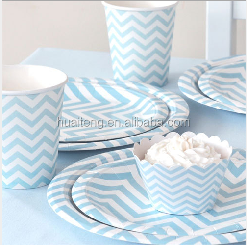 Household items paper plate cup and cake holder