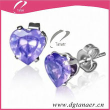 2013 fashion jewelry heart diamond earring