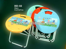 plastic round folding chair with metal feet