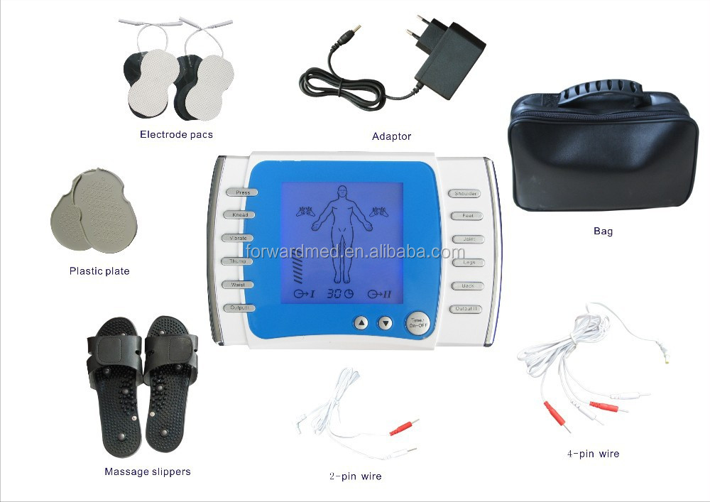 wholesale tens unit with electric massage pulse pads