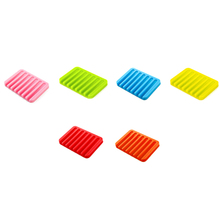Silicone Rectangle Soap Holder For Bathroom/Shower/Kitchen Silicone Soap Dishes