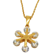 Olivia Excellent Quality Stainless Steel Gold Plated Women Dancing Stone Chain Necklace Pakistan Artificial Jewelry