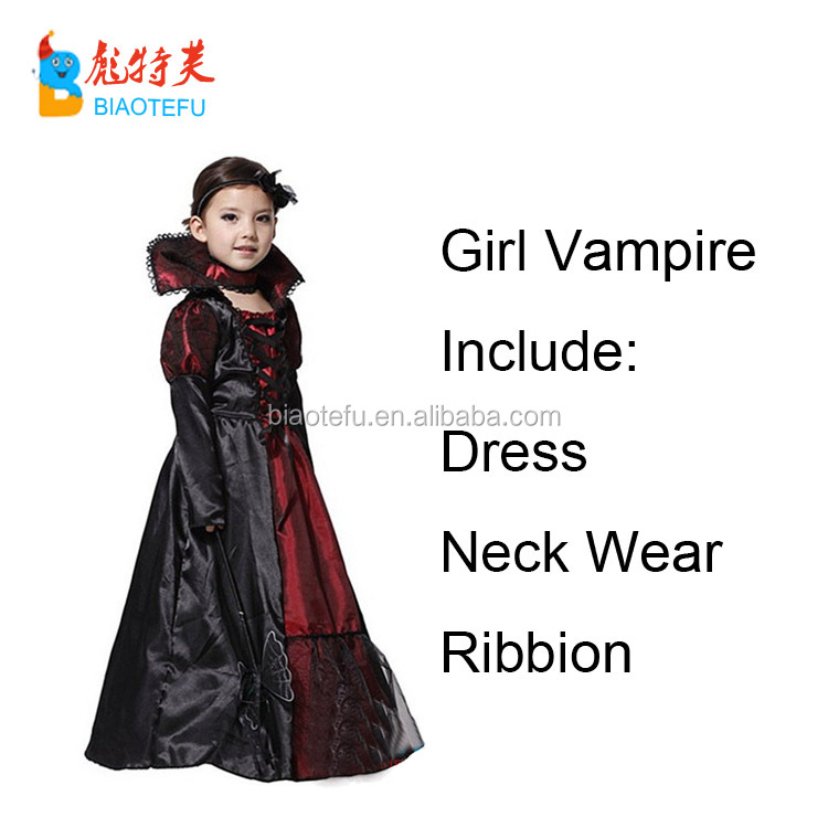 Halloween Witch Cosplay Vampire costumes for kids