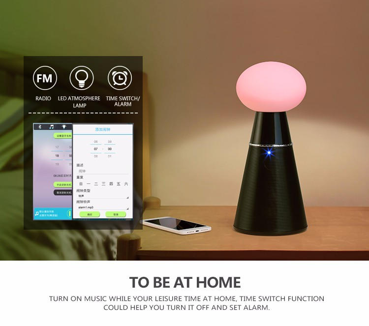 YOMMO Outdoor/Home Portable Wireless Party Lamp Led Bluetooth Speaker With Led Light For Mobile Phone