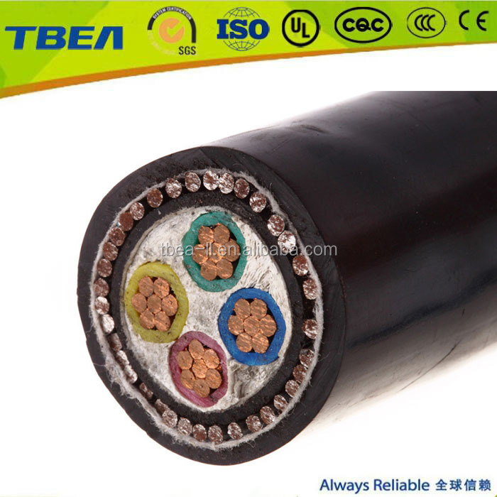 0.6 / 1KV Multicore pvc insulated armoured 4mm 6mm 10mm 4 core cable wire