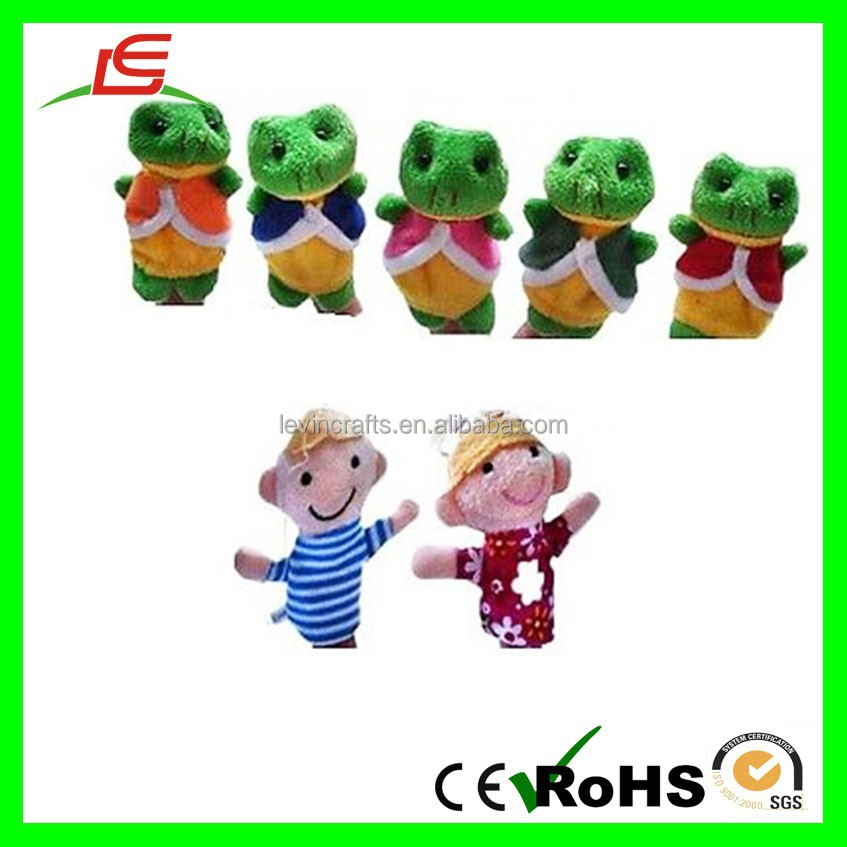 Lovely Soft Zoo Theater Plush Cute Animal Finger Puppet