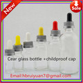 5ml clear blue green back red brown glass bottles
