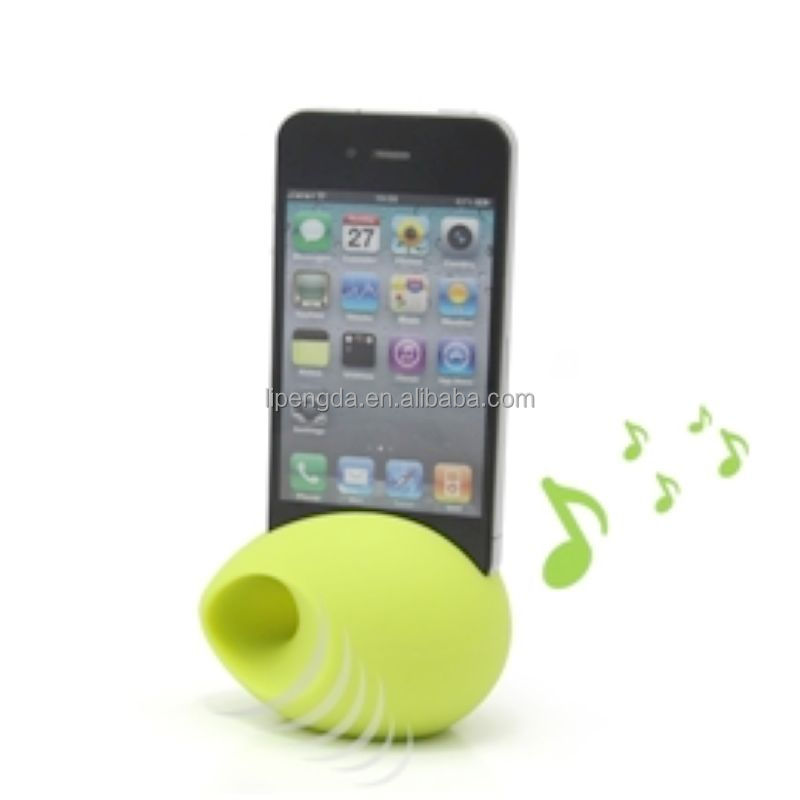 2017 most popular hot selling silicone mobile phone loud speaker for iphone/multi-function mobile phone holder mini speaker