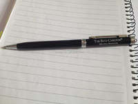 High qualtiy metal pen-THE RITZ CARLTON hotel pen ,Black metal pen with silver DW-B072