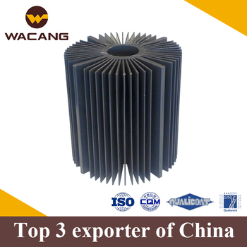 China factory extrusion professional custom aluminum round heat sink