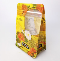 Colorful ziplock bag transparent stand up zipper bags costumized food packaging