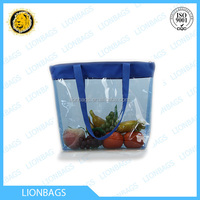 2015 clear pvc tote shopping glossy bags