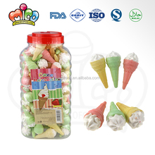 strawberry filling cone marshmallow in jar