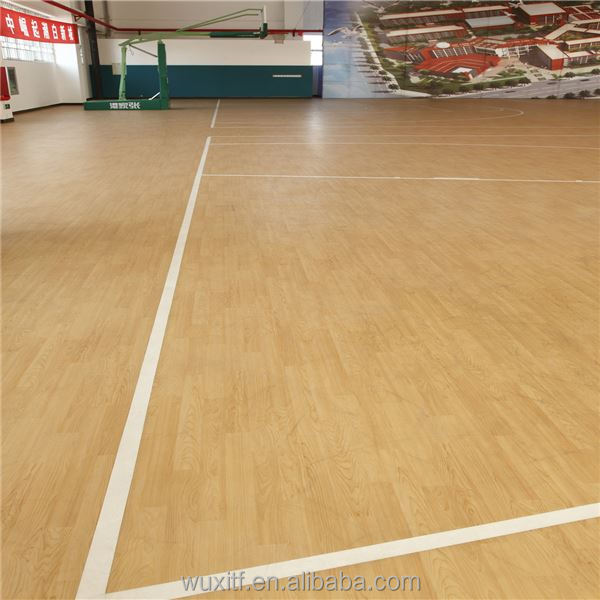 Temperature resistance noiseless pvc flooring basketball court wood flooring