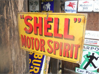 SHELL MOTOR SPIRIT enamel sign board, decorative board, signpost