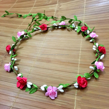 Factory cheep artificial paper rose wreaths