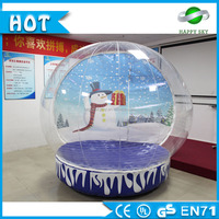 Best selling !large snow globes ,human snow globe,Giant Inflatable Snow Globe for Taking Picture