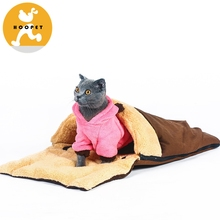 Multifuntional Windproof Cat pet house bed zipper Removable washable cat mat bed