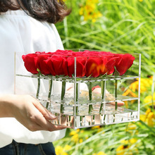 Wholesale 1/9/16/25/36 rose waterproof clear acrylic flower box