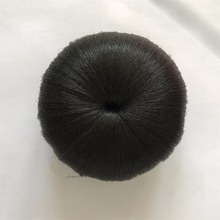 Chignon clip in hair bun apple style black yaki synthetic high quality for women