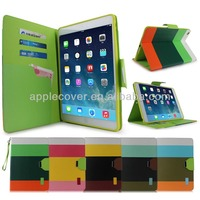 customized Hybird TPU +PU leather wallet Case for iPad Air , for ipadair