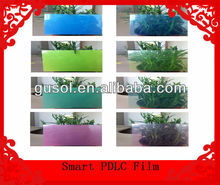 colored PDLC film smart glass for building windows