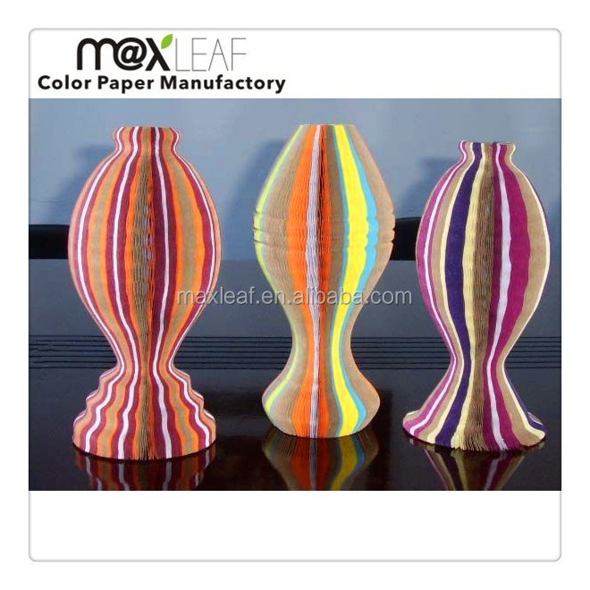 assorted colors foldable honeycomb paper vase hat