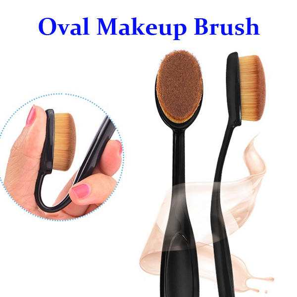 In Stock Now Make Up Brush Set Tooth Brush Style, Oval Makeup Brush