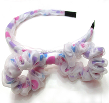 Fancy lovely rabbit ears fabric chiffon headband