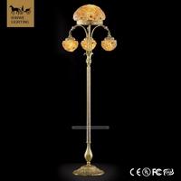 Special torchiere floor lamps 4 Lights flower bowl wedding crystal candelabra Bronze Floor Lamps