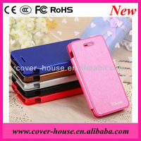 Newest !!!! Silk print Flip PU Leather case for iphone 5C
