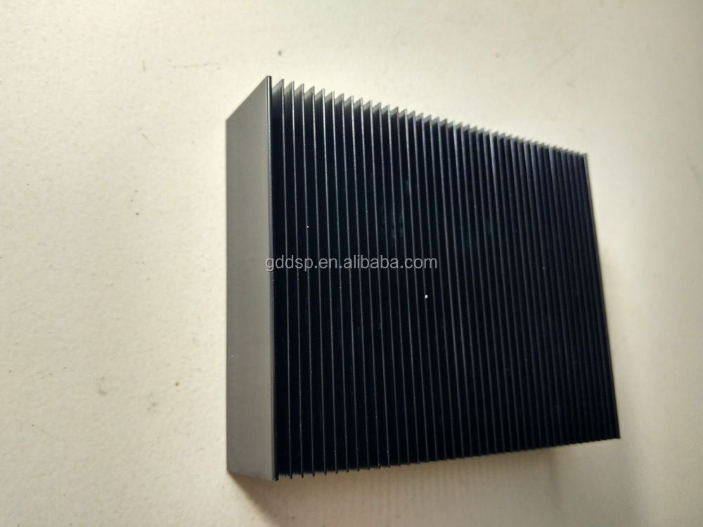 OEM square shape 24mm height black aluminum heatsink
