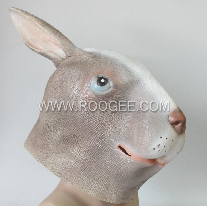 Funny & Soft Full Head Animal Rabbit Head Mask Accourement Party Cosplay Latex Mask
