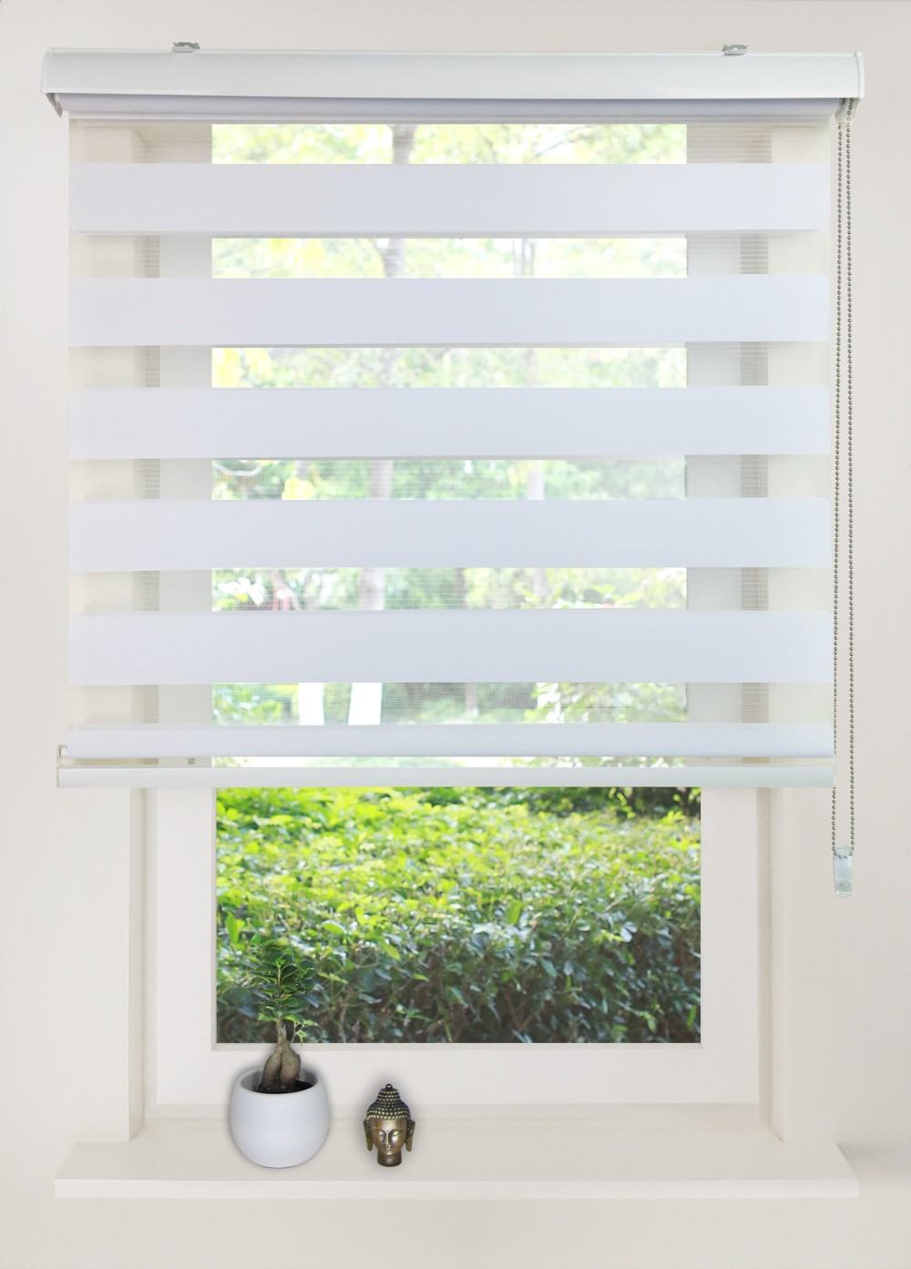 Light Filtering Sheer Shades,Double Layer Zebra Blinds