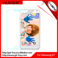 HUYSHE 0.3mm 2.5d lcd tv screen protector for samsung galaxy e7
