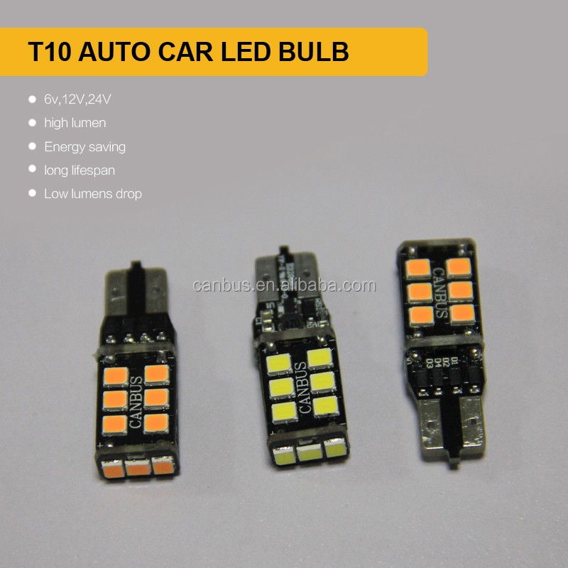 Super bright t10 5w5 car led bulbs, canbus t10 w5w 194 turn light,12v t10w5w backup light