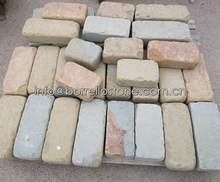 honed double color sandstone paving slab