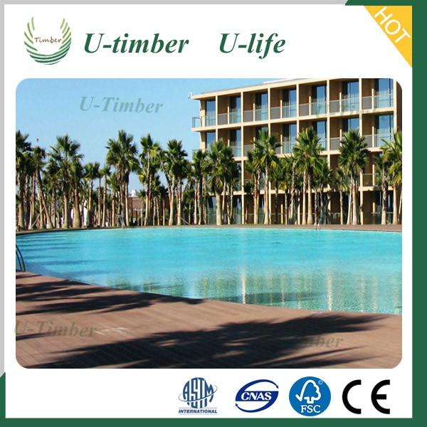 Decorate swimming pool with WPC decking made in China