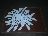 square tempered glass plate/dish/tray set