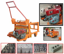 Plastic moving small cement hollow italy block making machine algeria 4-45M made in China