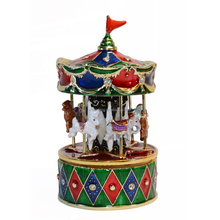 Carousel metal music box rocking horse musical box unique innovative birthday gifts