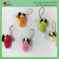 Mini Dog In Basket Toy Keychain