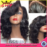 2016 hot sale elegant body wave silk base full lace wig for black woman