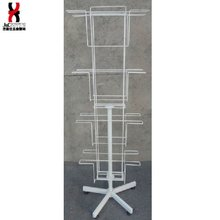 Free standing Rotated Magazine Display Rack/Wire Greeting Card Display Stand/Grocery Store Promotion Christmas Craft Gift