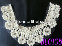 Hot Sell Nice Quality handmade crochet cotton lace collar for ladies