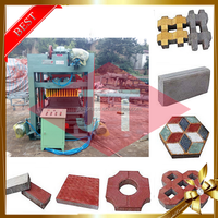 Indonesia low price manual building brick maker solid concrete small cement mobile block making machine
