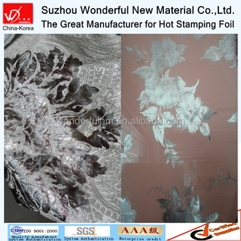Washable heat transfer hot stamping foil for textile and fabric